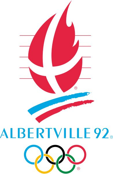 ALBERTVILLE 1992 | Winter Olympics | The emblem is the flag of Savoy region  in the shape of the Olympic flame,  dancing above stripes representing  the flag of France. | This was the last Winter Olympics to be held the same year as the Summer Olympics, and the first where the Winter Paralympics were held at the same site.