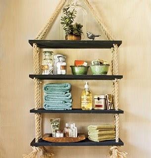 DIY shelves  #rope