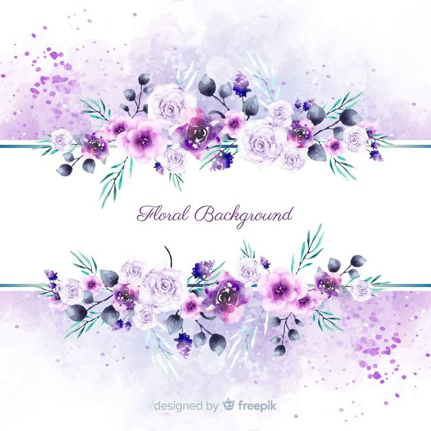 Download Watercolor Spring Floral Background For Free In 2020