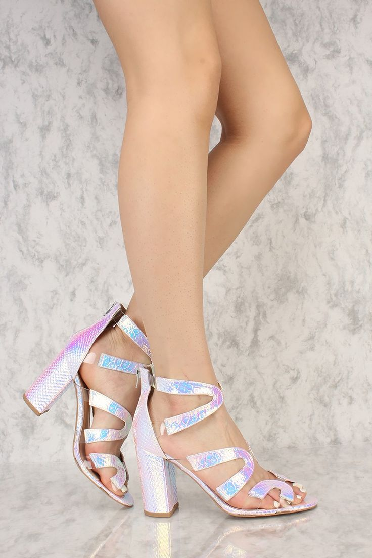 1000  ideas about Silver Chunky Heels on Pinterest | Platform ...