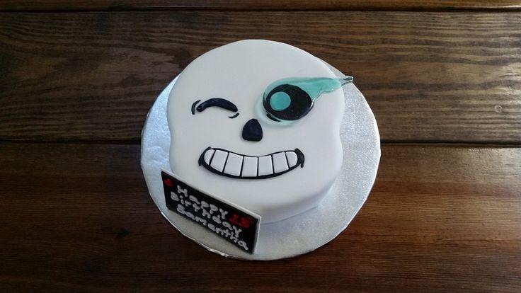 UNDERTALE SANS COMICS FUNNY GAMER BIRTHDAY CAKE PAPYRUS TEEN TWEEN