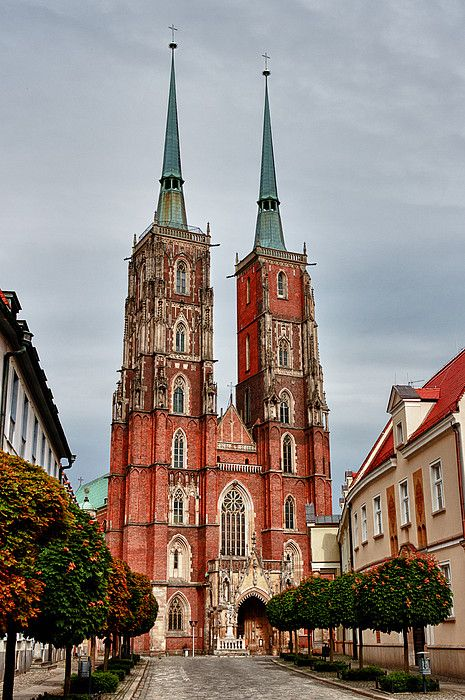Cathedral of St John Baptist, Wroclaw, Poland. Climb the towers for city views.
