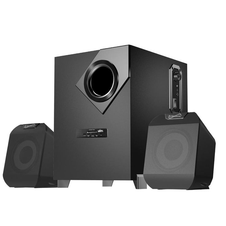 Supersonic Bluetooth Multimedia Speaker System - Black