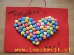 Valentijn hart playmais
