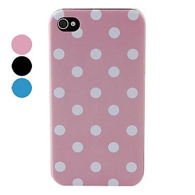 Carcasa Dura de Puntos Polka para el iPhone 4 y 4S - Colores Surtidos – EUR € 2.29