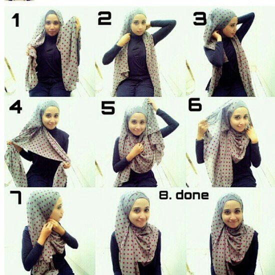 17 Best Images About Hijab Style On Pinterest Tutorial Hijab Modern Simple Hijab Tutorial And