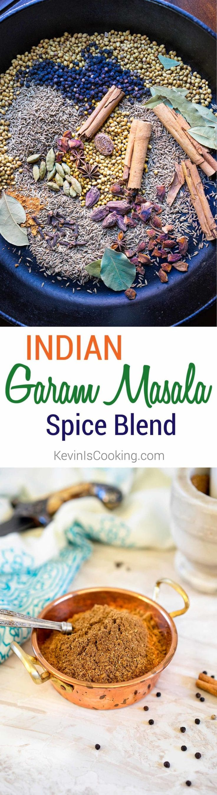 Indian Garam Masala is an exotic blend of warm spices. I show you how it can be made with most pantry items or purchased from bin markets and spice shops. via @keviniscookin