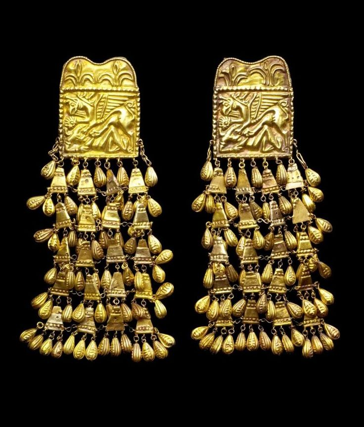 Gold Scythian bed hangings, 4th C BC.