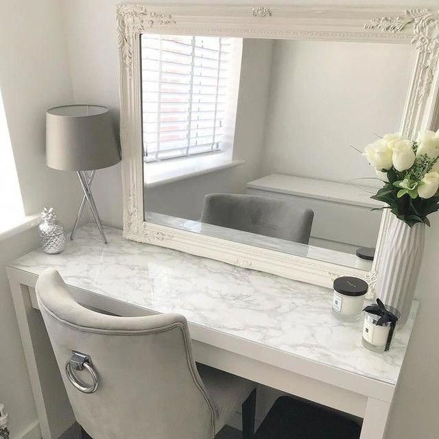 Marble Print Under Glass Of Malm Dressing Table Ikea Masterbedroomikea Dressing Room Decor White Dressing Tables Malm Dressing Table