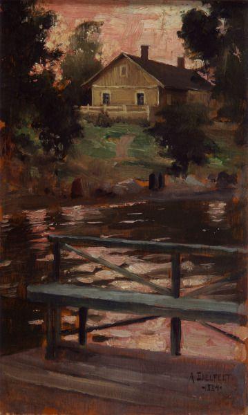 View from Haikko - Maisema Haikosta 1884,  ALBERT GUSTAF ARISTIDES EDELFELT (1854-1905)