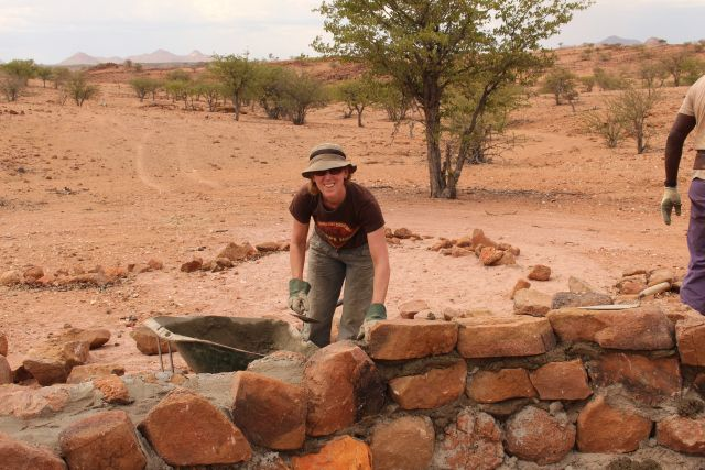 Building an Elephant protection wall.