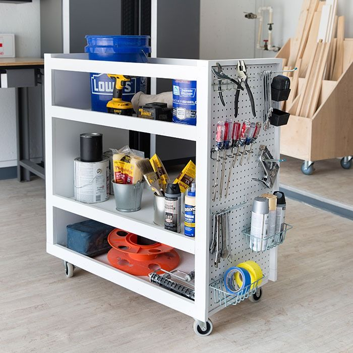 Solve your garage organization woes by constructing a rolling tool cart complete with pegboard sides. This simple design offers maximum storage area and can be easily adapted to a wide variety of uses. Monica has all the details in The Weekender season 2 episode 3.