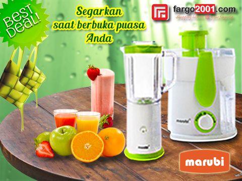 Kerepotan membuat Jus saat akan berbuka puasa? Marubi Blender dan Juice Extractor akan membantu Anda ! Jangan lewatkan spesial deal untuk semua produk-produk Marubi ! http://fargo2001.com/housewares-315/home-appliances-104/marubi-308