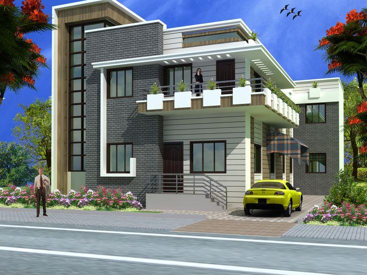 Ground Floor House Elevation Designs In Indian Modern Duplex 2 Floor House  Design Click On This