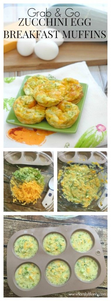 Zucchini Egg Breakfast Muffins
