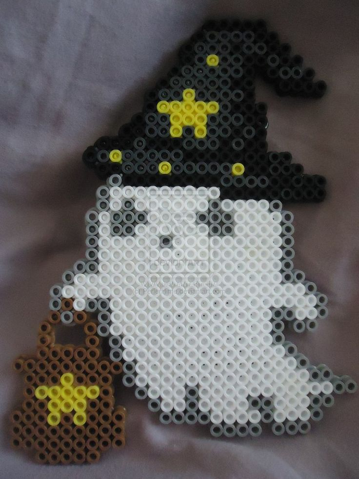 Ghostly Trick or Treater - Halloween perler beads by PerlerHime on deviantART