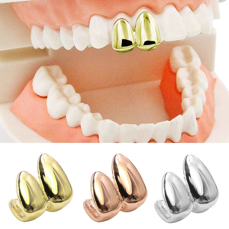 TAOS Vampire False Canine Teeth Caps Hip Hop Style Tooth Grill  Denture Cap for Halloween Party Golden Silver Rose Gold Plated #Affiliate