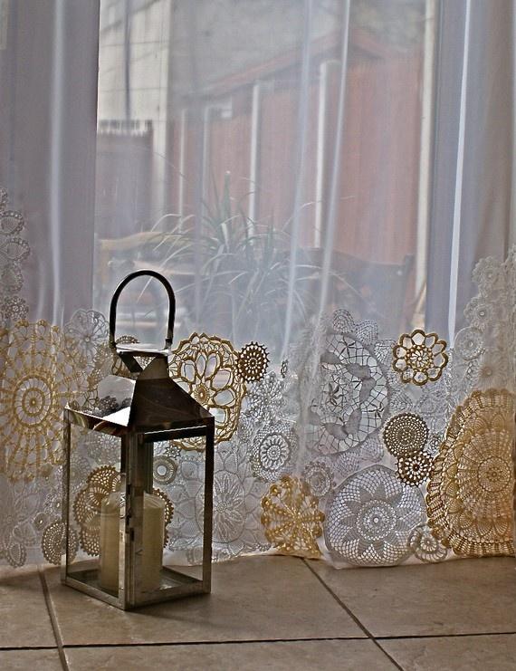 doily curtain