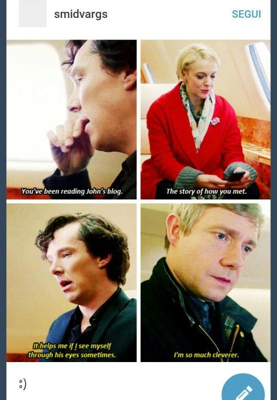 """Sherlock special, The Abominable Bride. How John sees Sherlock.<<< And John is just like """"no you dummy! That is just as smart as you are!"""""""