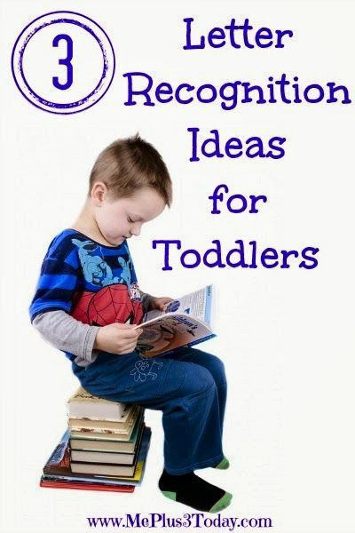 3 Letter Recognition Ideas for Toddlers - Help promote early literacy skills with these simple ideas - www.MePlus3Today.com