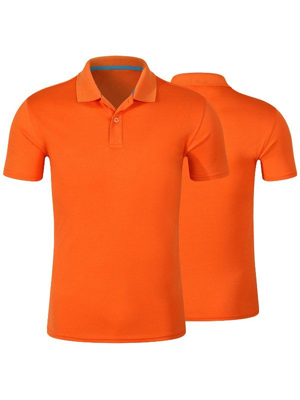 $8.26--Short Sleeve Plain Polo Shirt In Jacinth,3xl