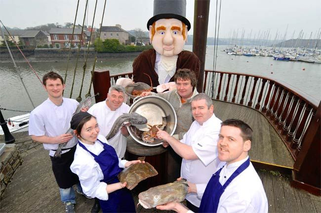 Some of the chefs working on the 2013 All-Ireland Chowder Cook-Off, April 21st, Actons Hotel, Kinsale, Ireland.