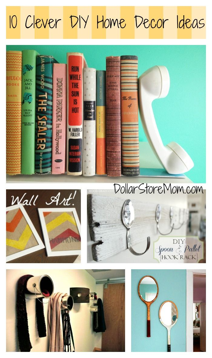 DIY Home Decor Dollar Store | updating your decor on your to do list for this year? These DIY home ...