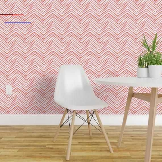 Pinkchevronwallpaper Featured Design Is Available Custom Printed Onto Your Choice Of Spoonflower S Smooth Prepasted Water Activated Wallpaper Or Wo At Least