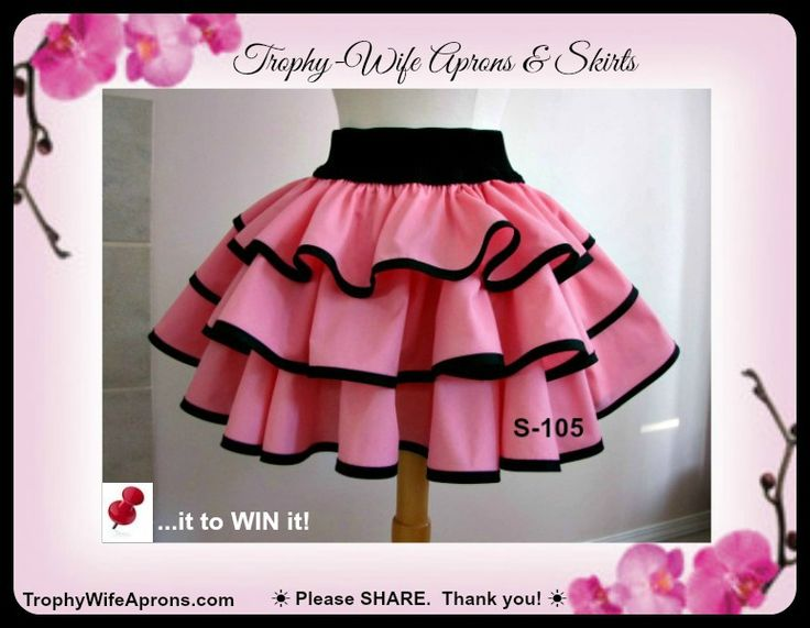 Trophy-Wife Pink Skirt ☀ SAVE it to WIN it ☀  The lucky girl will get to select RETRO the apron she wants.  Adult sizes starting @ $69.00 - KIDS sizes starting @ $49.00 Vintage inspired retro aprons #sexy flirty funky aprons - Custom made or readymade hostess aprons -Sizes T2 to adult 4XL ☀ ☀ I give 1 FREE HOSTESS APRON EVERY MONTH ☀ ☀ CLICK here for details==> www.facebook.com/TrophyWifeAprons