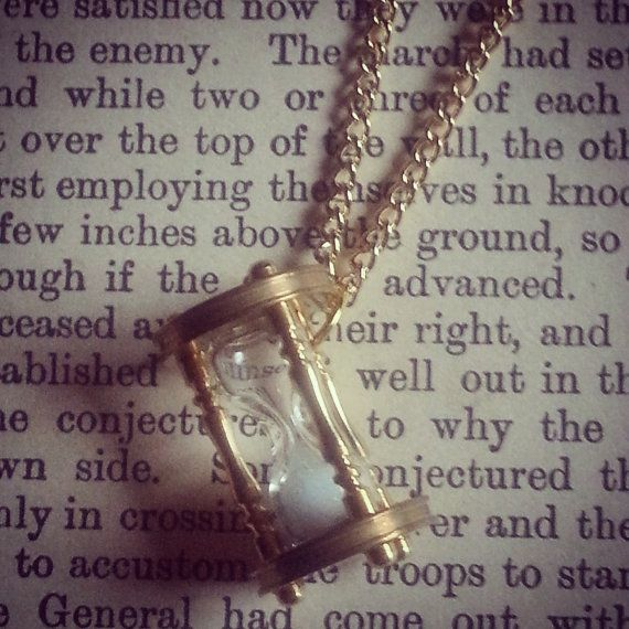 Miniature real hourglass sand timer necklace by JunkQueenUK