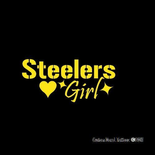 Pittsburgh Steelers Girl Car Window Decal Sticker Mini