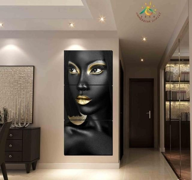 3 Piece And 4 Piece African American Woman Wall Art Canvas Canvas Art Wall Decor African American Wall Art Diy Canvas Wall Art