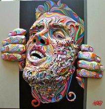 Relief Paintings Turn Flat Art Into Realistic Color Explosions
