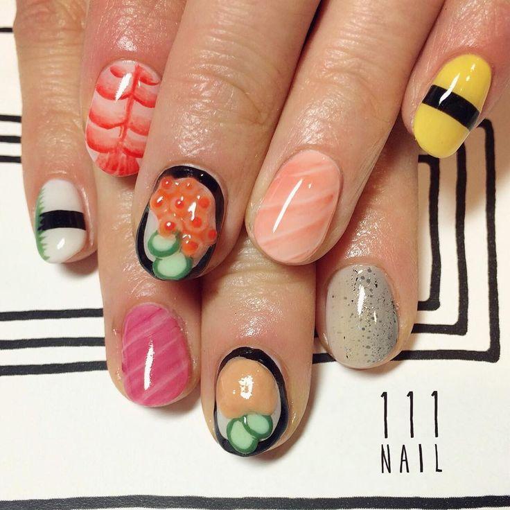 ランチは是非お寿司を!!✨ #Nail#art #nailart…doing these for whe