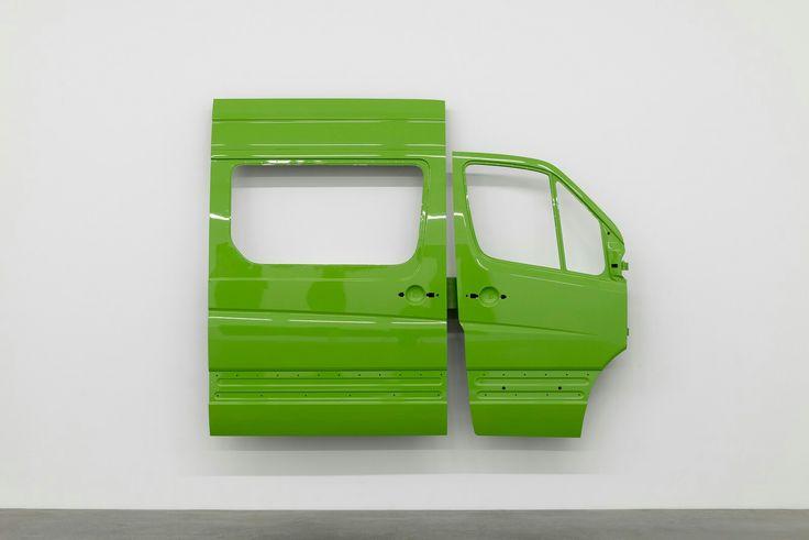 Yngve Holen, Platooning, 2016, Metal, car varnish, 220 x 265 x 32 cm