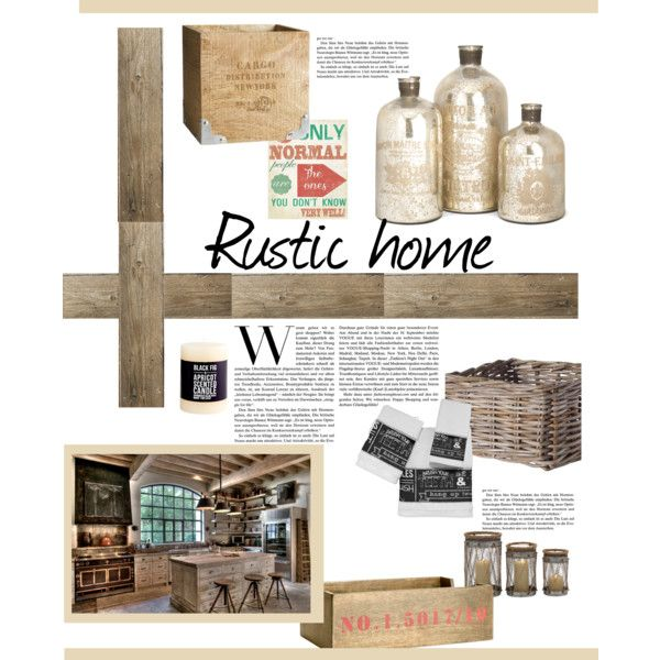 """Rustic home"" by gelykou on Polyvore"