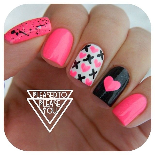 Cute Valentine Nail Art: 17 Best Images About Nail And Make Up Style On Pinterest