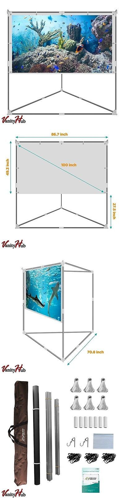 projection screens and material video projector screen outdoor movie portable mobile large home backyard patio
