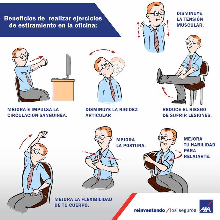 ejercicios de estiramiento en la oficina Personal Care