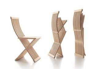 sillas de madera plegables