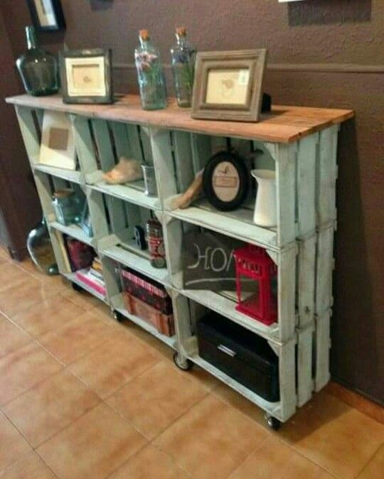 Repurpused wood boxes / gajbice