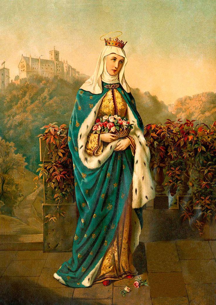 Heilige Elisabeth von Thüringen Schutzpatronin Witwen St. Bütten Sankt A3 0105