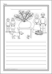 The Enormous Turnip colour and write worksheets (SB9295) - SparkleBox