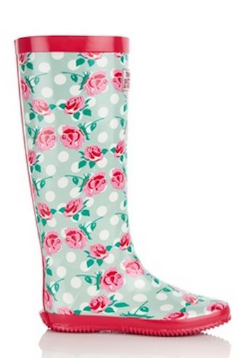Walk In The Park Foldable Rubber Rain Boots Multiple -3286