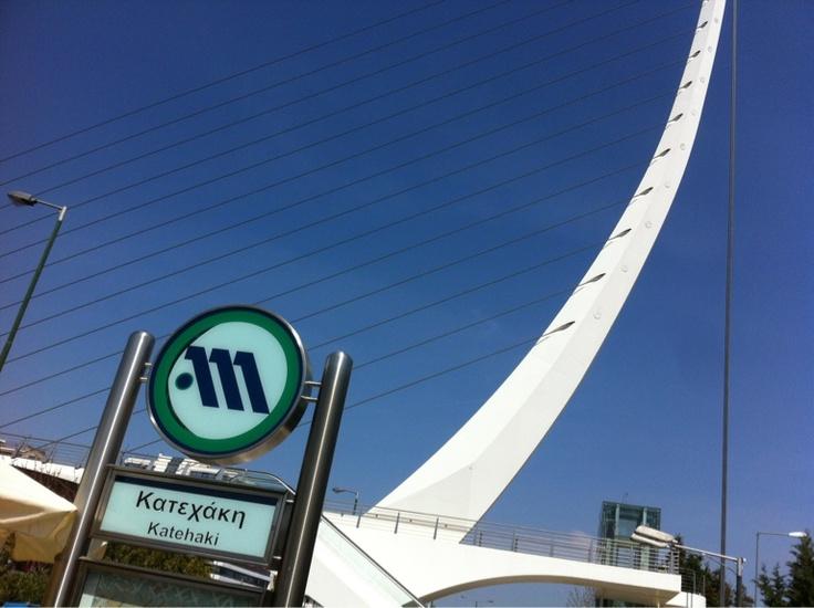 Athen: Metrostation Katehaki; Athens: Underground Station Katehaki; Στάση του μετρό Κατεχακη