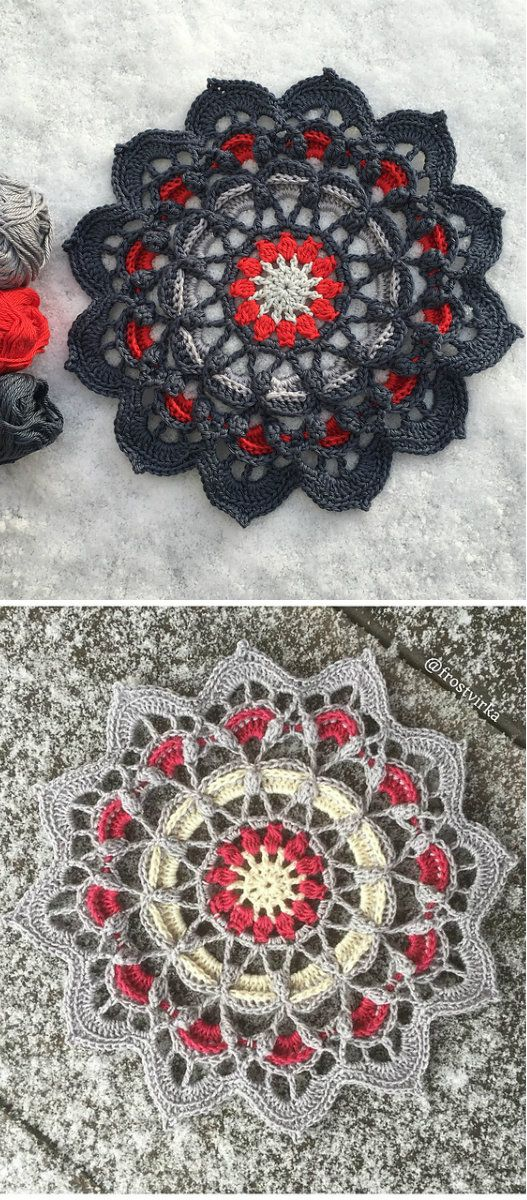 Frozen Lotus Decorative Free Crochet Pattern