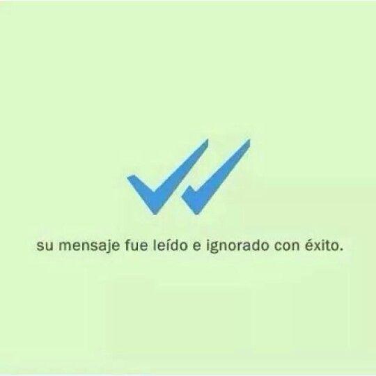 Tu mensaje fue ignorado con éxito #Whatsapp