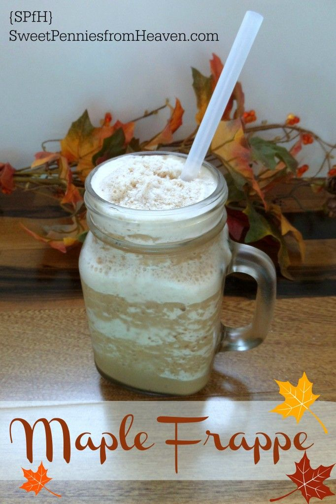 You can enjoy a homemade frappe all year long, and this Maple Frappe is a new fall favorite! Stop spending outrageous prices at the coffee shops and make your own at home! There's more to go around and you probably already have everything right there in your cabinet!