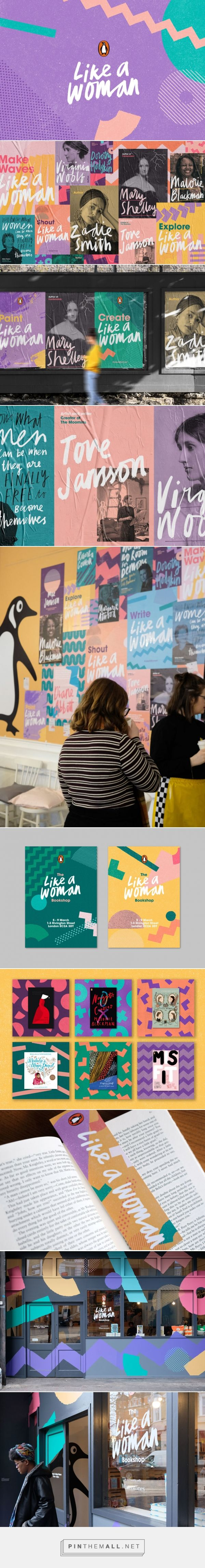 Like a Woman Pop-up Bookshop Branding by Fieldwork | Fivestar Branding Agency – Design and Branding Agency & Curated Inspiration Gallery #bookstore #likeawoman #branding #brand #brandinspiration #design #designinspiration
