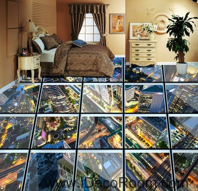 Glass Roof Effect City Night 00031 Floor Decals 3D Wallpaper Wall Mural  Stickers Print Art Bathroom Decor Living Room Kitchen Waterproof Business  Home. 17 Best ideas about 3d Wallpaper on Pinterest   Wall papers